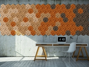 Decor perete ORGANIC BLOCKS - HEXAGON